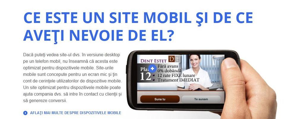 Tehnologia mobila pentru site-urile web