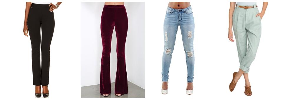 Cum se aleg pantalonii de dama in functie de silueta?
