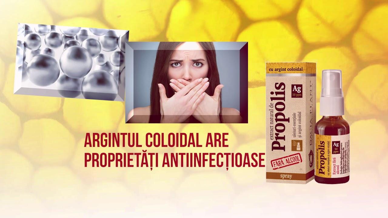 La ce este utilizat propolisul in combinatie cu argint coloidal si care sunt beneficiile sale?